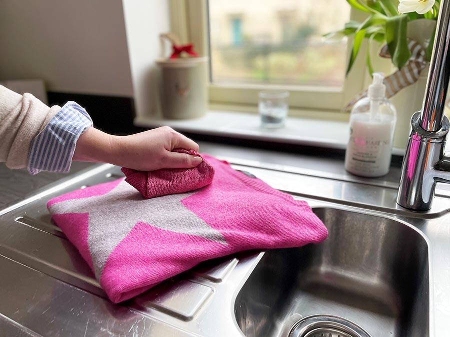 Cashmere care hand washing